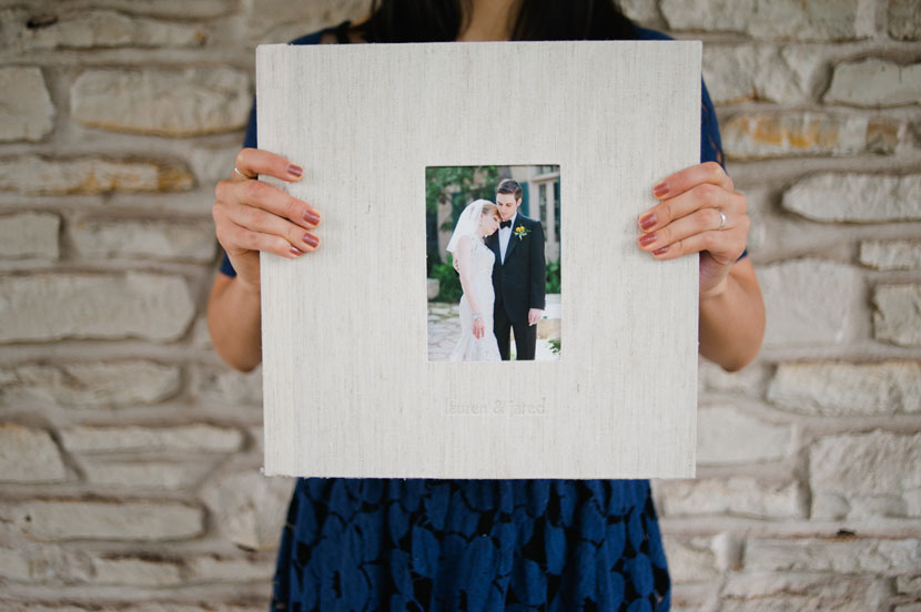 austin wedding photography album