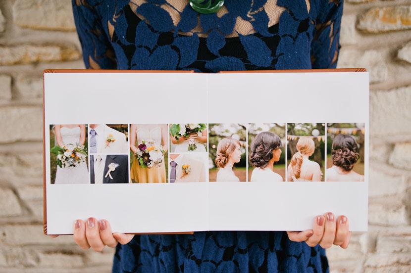 8x8 wedding album spread