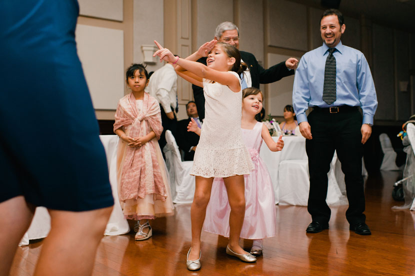 little girl dancing to YMCA