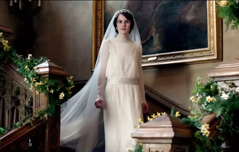 mary crawley wedding dress