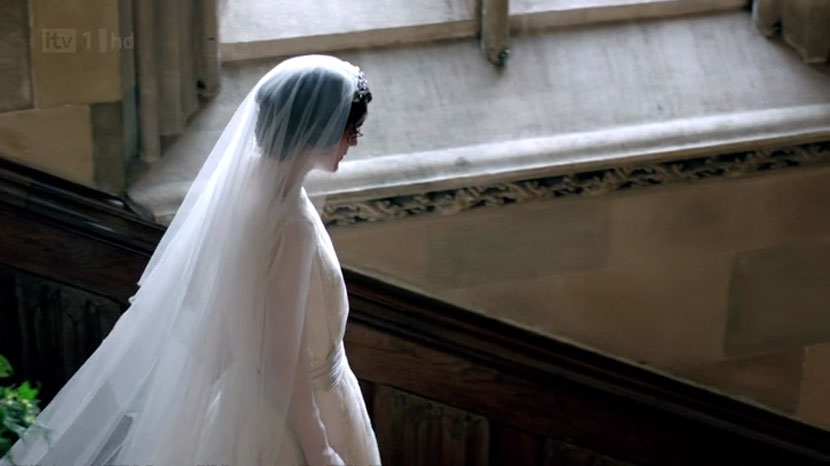 veil from 1920s wedding downton abbey