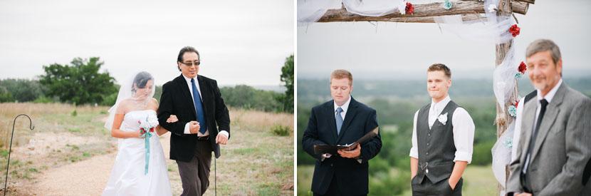 emotional wedding processional photos