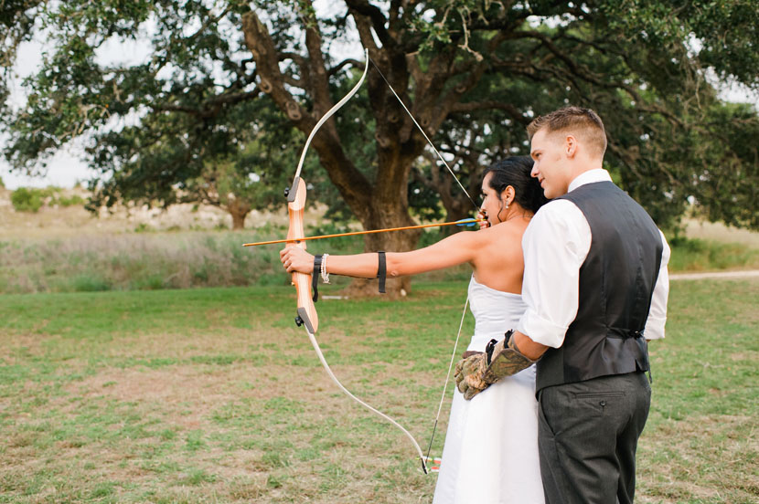 wedding archery pictures