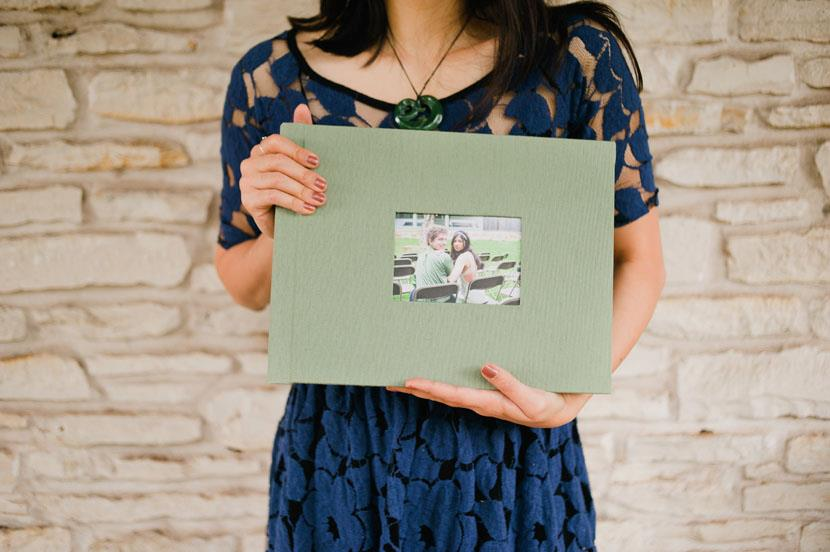 9x12 horizontal wedding album