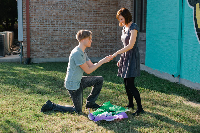 proposal during engagement session