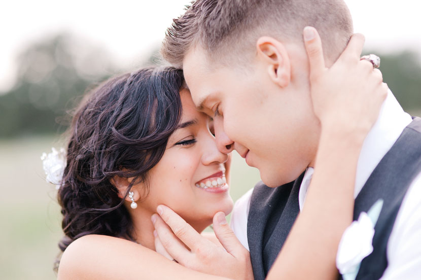 wedding day portrait in hill country