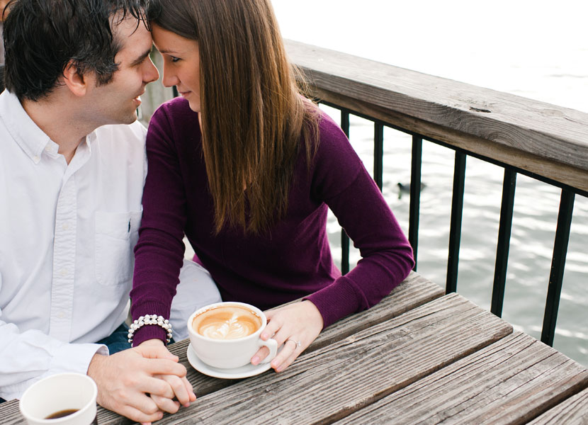 austin lakeside engagement session