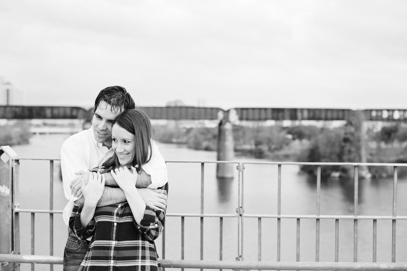 austin downtown engagement photos