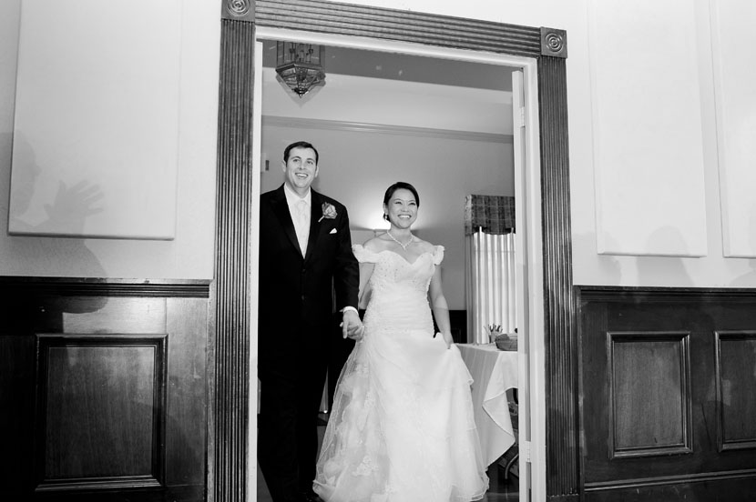 bride and groom entrance into reception