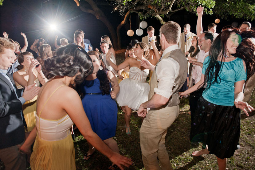 bride boogies down at mercury hall outdoors