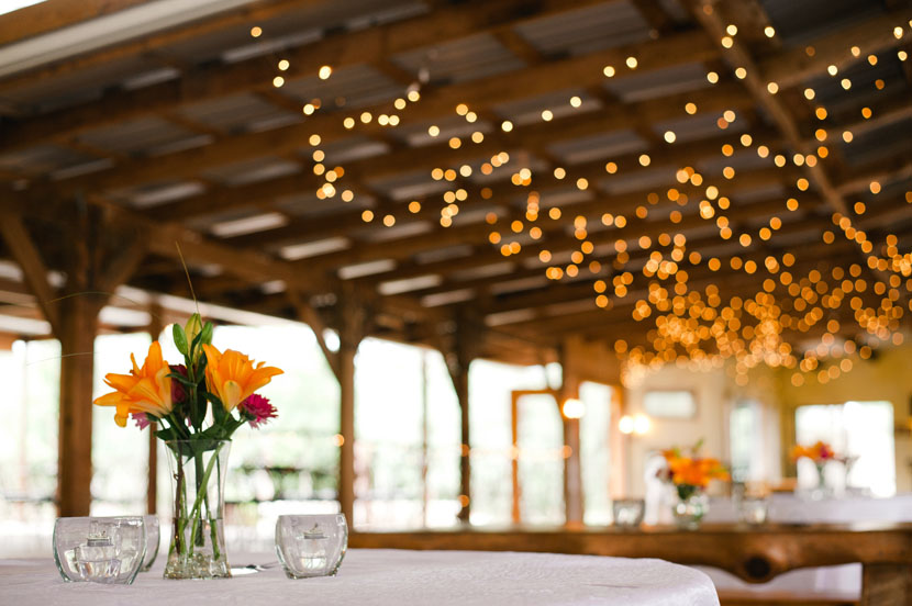reception setup in kali kate pavilion texas