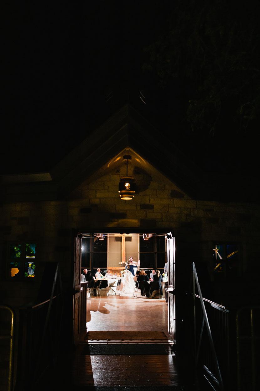 couple dances at la grange wedding