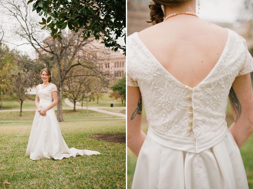 bridal portrait on capitol grounds