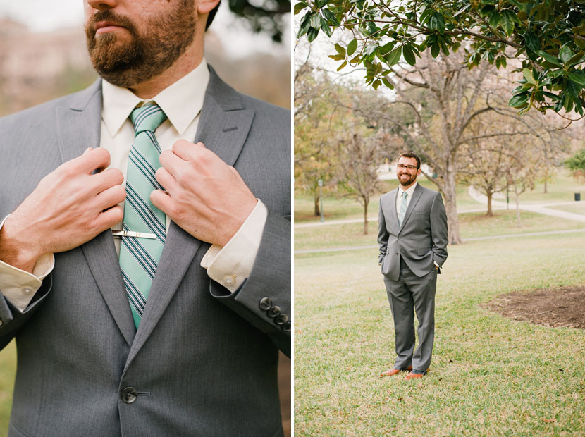 bright tie for groom
