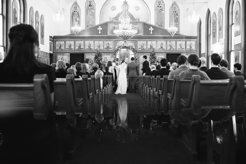 creative church wedding photo
