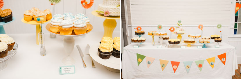 cupcakes at mercury hall wedding
