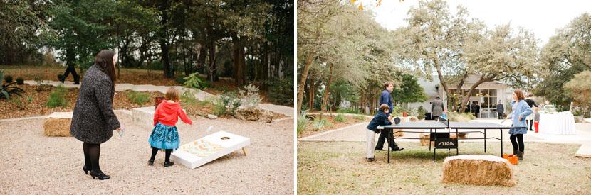 lawn games during wedding reception