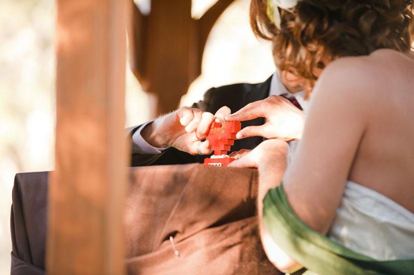 using a lego for a wedding unity ceremony