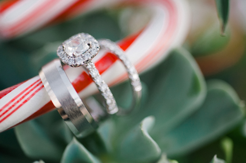 wedding ring photo christmas theme