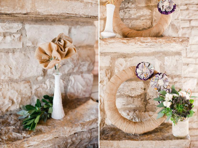 burlap diy wedding objects