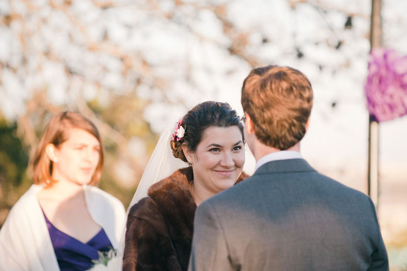 reactions during vows