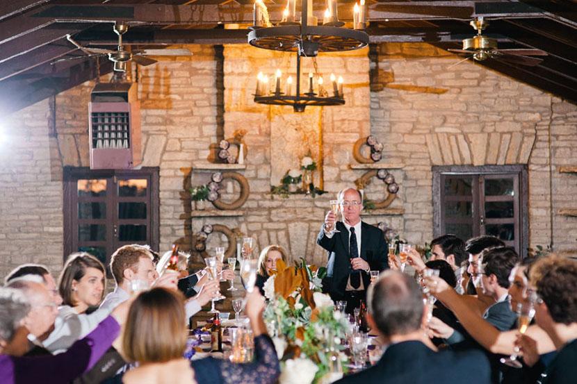 less than 20 guests at this small wedding