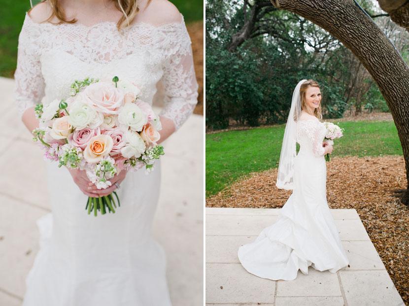 classy rose wedding bouquet