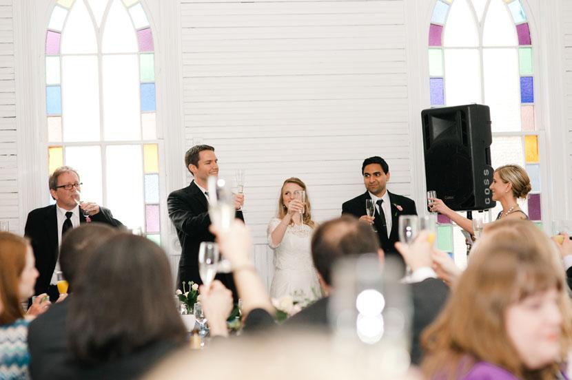 wedding toasts glasses raised