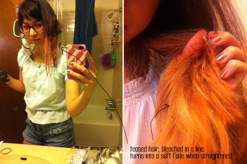 bleaching to get a ombre fade