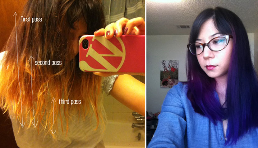 How-To: DIY Dyed Ombre Hair