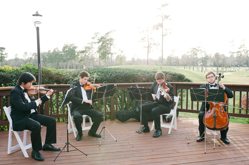 live band during wedding ceremony