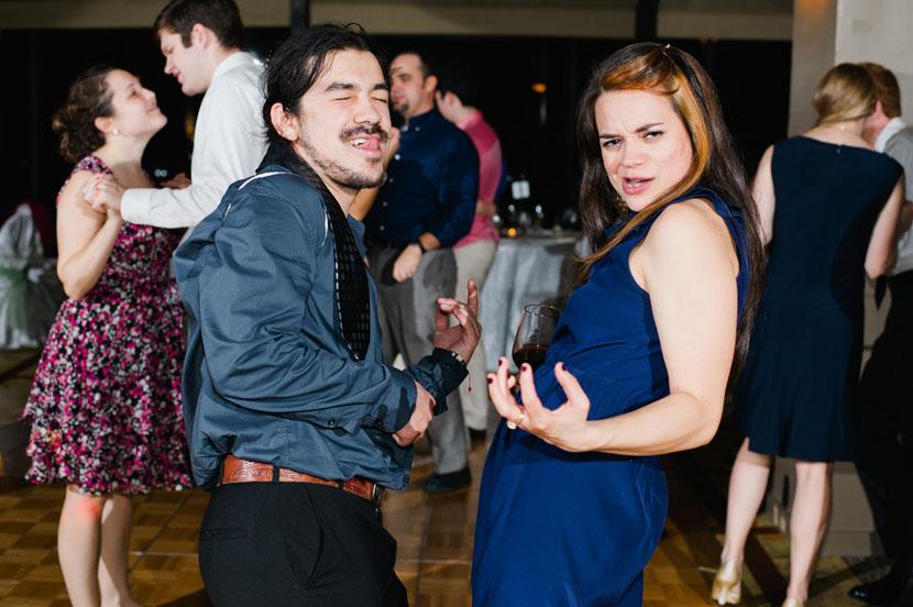 raucous wedding guests