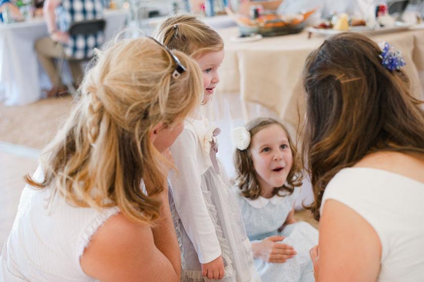 cute children at wedding reception