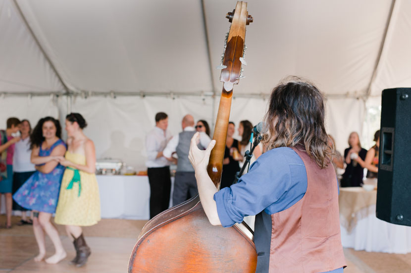 live band at your wedding reception