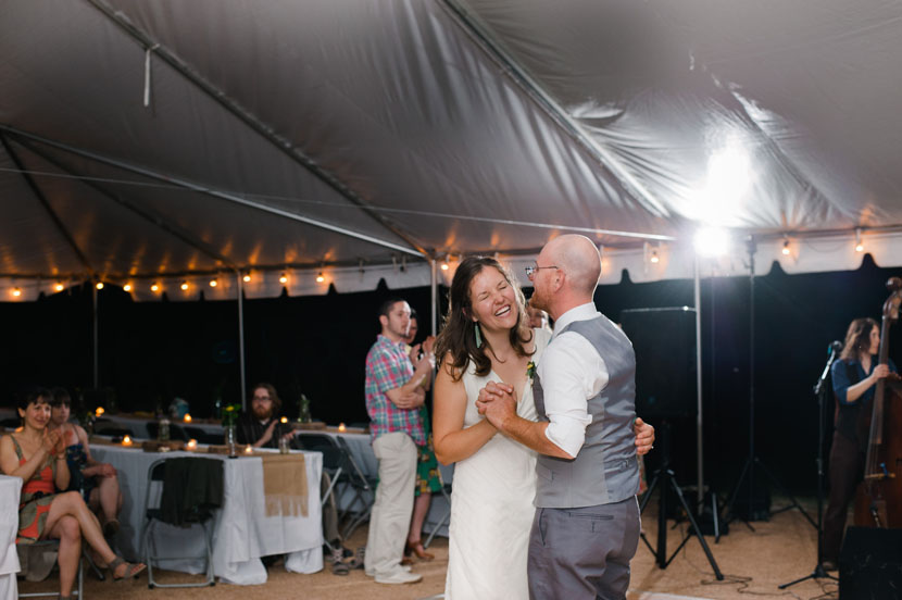 dancing in an open air tent in austin