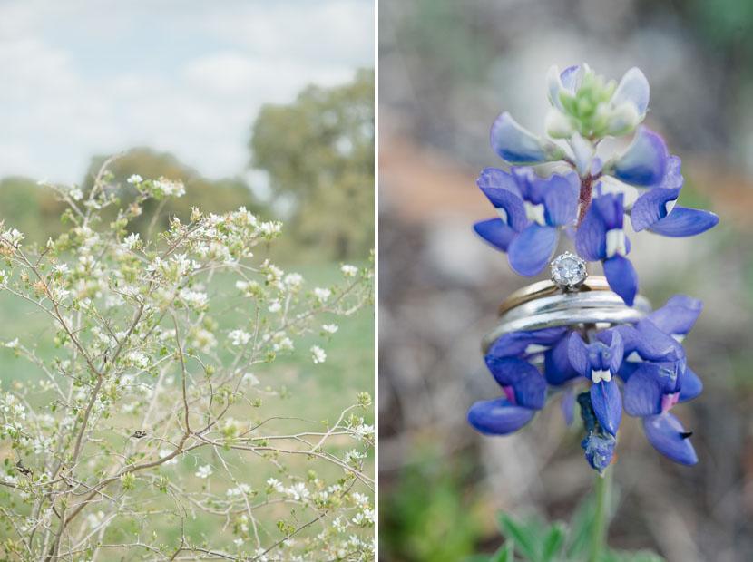 bluebonnet wedding ring shot texas