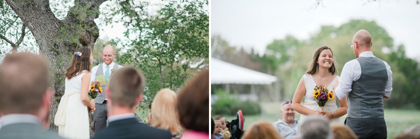 bride groom ceremony reaction shots