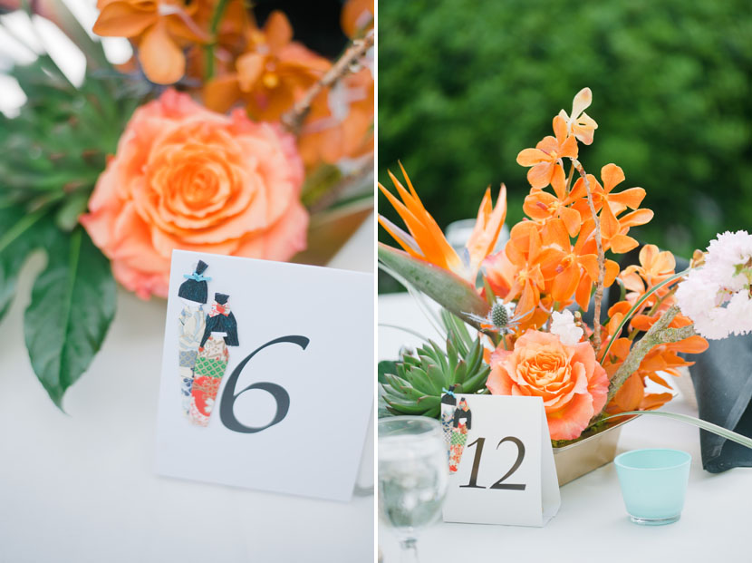 orange centerpiece decorations