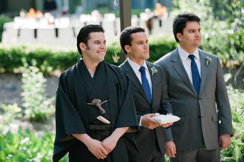 groom at umlauf wedding
