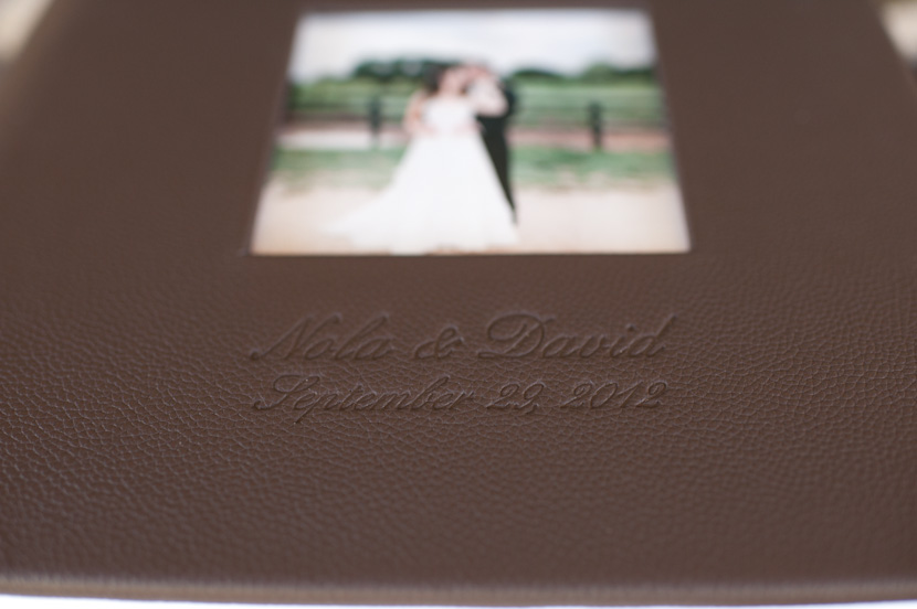 wedding album with cameo