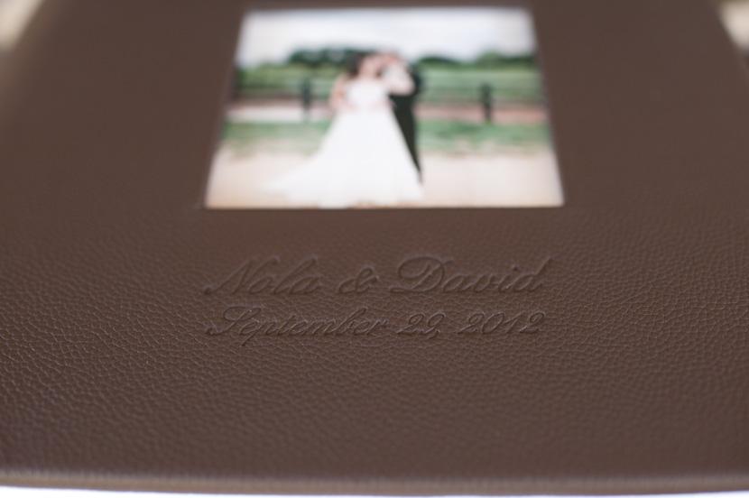 wedding album with cameo