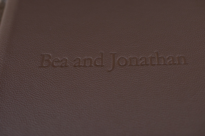 embossing on wedding album