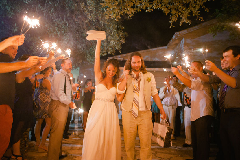 sparkler exit austin wedding