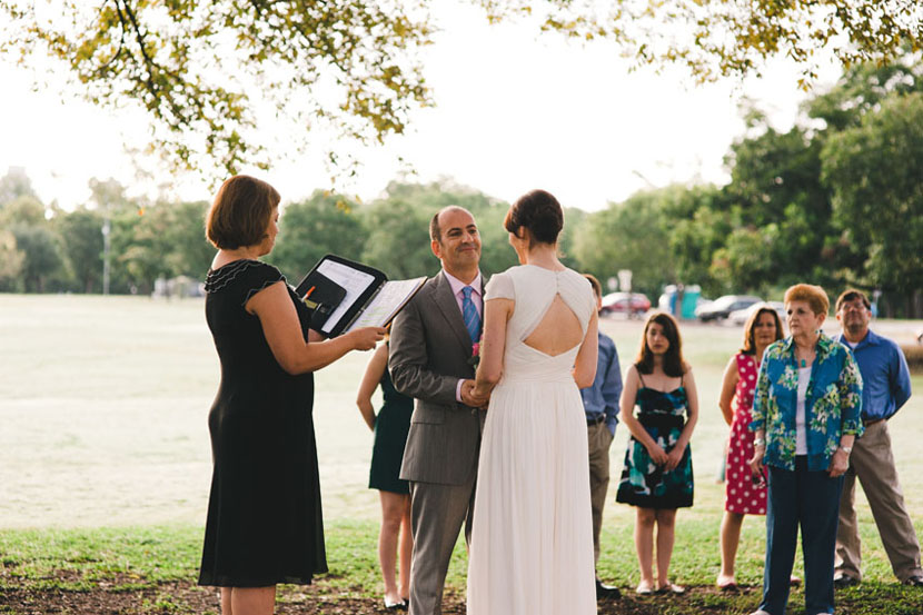 exchange vows under a tree