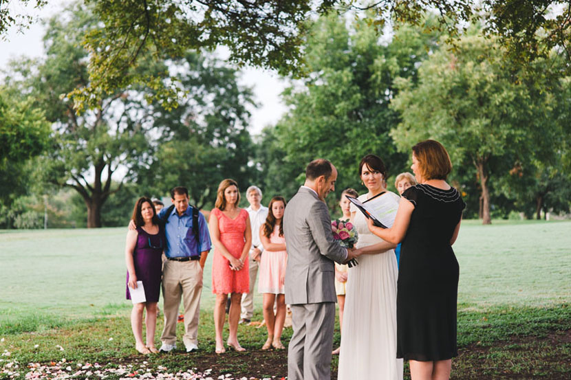intimate park wedding