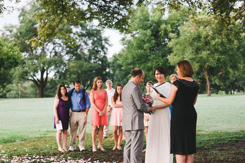 intimate park wedding