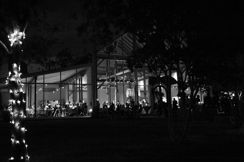 barr mansion after dark
