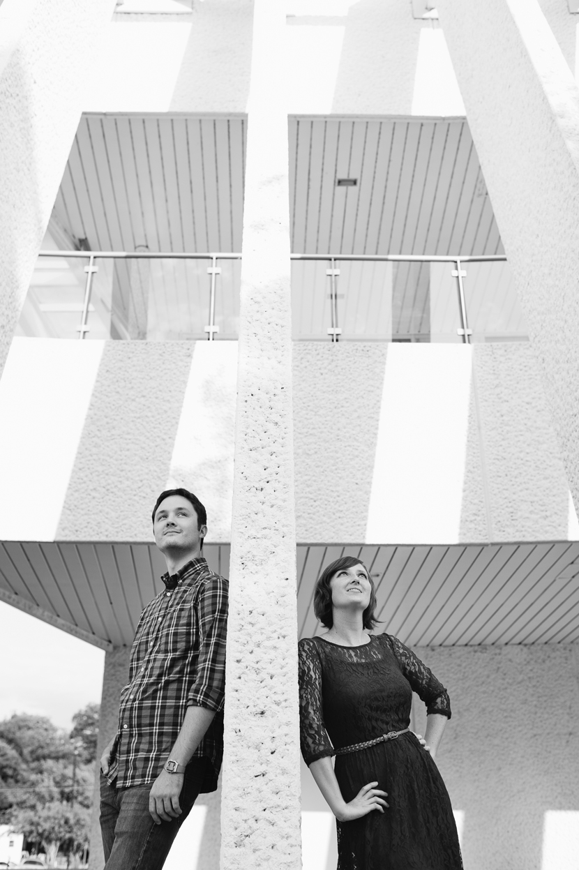 Architecturally cool engagement photo by Elissa R.