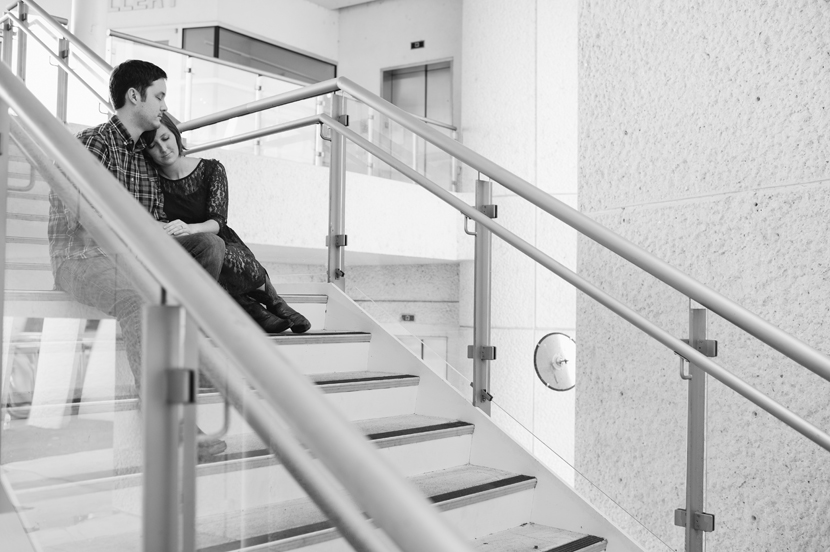 Stairwell engagement photo by Elissa R.