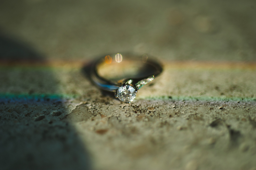 Rainbow on engagement ring photo - by Elissa R.